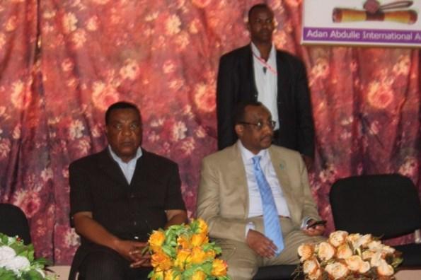 (Right)  Somali PM. Dr. Abdiweli Mohamed Ali,  (Left ) UN Special Representative to Somalia, Ambassador Augustine P. Mahiga.